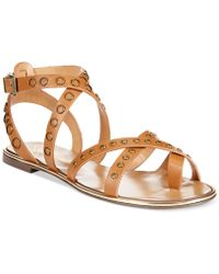 Report Signature Cash2 Studded Flat Gladiator Sandals brown - Lyst