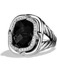 David Yurman Labyrinth Ring with Black Onyx and Diamonds - Lyst