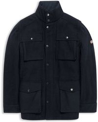 Ben Sherman Melton Wool Blend Coat - Lyst