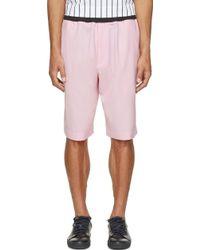 3.1 Phillip Lim Pink Wool Draping Shorts - Lyst