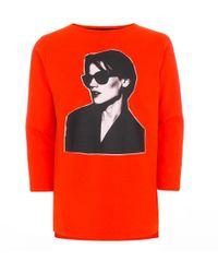Paul Smith | Men's Orange 'saskia' Print Long-sleeve T-shirt | Lyst