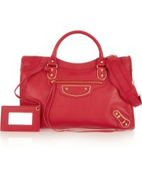 Balenciaga - Holiday Collection City Medium Textured-leather Tote - Lyst