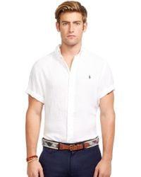 Polo Ralph Lauren Short-Sleeved Linen Shirt - Lyst