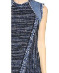 Rebecca Taylor - Tweed Dress - Denim Combo - Lyst