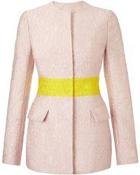 Mary Katrantzou Jq Safari Jacket Alphabet Pink - Lyst