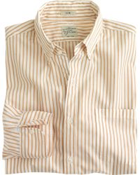 J.Crew Slim Secret Wash Shirt In Medium Stripe - Lyst