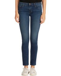 J Brand Mid Rise Skinny Jean In Blue Code - Lyst