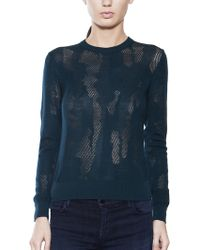 Cacharel Lace Wool Pullover - Lyst