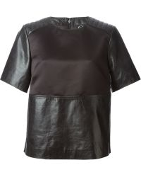 McQ by Alexander McQueen Panelled Top - Lyst