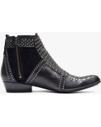 Anine Bing Boots With Silver Studs - Lyst