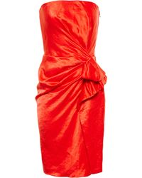Lanvin Strapless Drape Dress - Lyst