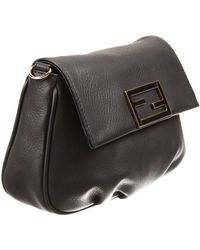 Fendi Clutch Bag Mini The Sta Crossbody Leather With Chain - Lyst