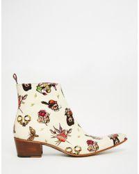Jeffery West | Zip Cuban Heel Boots | Lyst