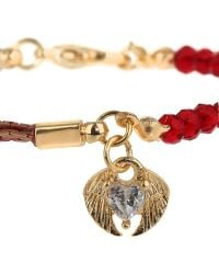 Topshop Heart and Wings Charm Bracelet - Lyst
