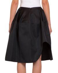 Simone Rocha Asymmetrical Satin Skirt - Lyst