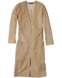 Theory Ankan S Coat In Classic Suede - Lyst