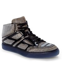 Alejandro Ingelmo Silver & Gold Tron High-Top Sneakers gold - Lyst