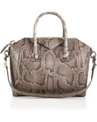 Givenchy Antigona Small Python Satchel brown - Lyst
