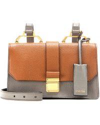 Miu Miu Two-Toned Leather Shoulder Bag - Lyst