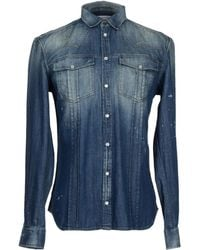 Balmain | Denim Shirt | Lyst