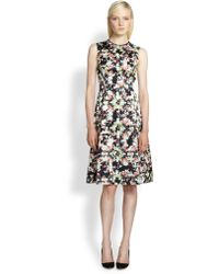 Erdem Printed Silk Dress - Lyst