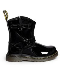 Dr. Martens 'Jiffy' Patent Leather Infant Boots black - Lyst