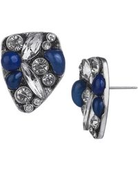Sam Edelman Faux Carnelian Cluster Stone Earrings - Lyst