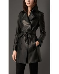 Burberry Lambskin Trench Coat - Lyst