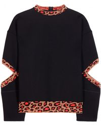 Christopher Kane Neoprene Sweater With Cut-Outs - Lyst