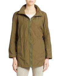 Eileen Fisher Petite Organic Cotton Blend Rain Jacket - Lyst