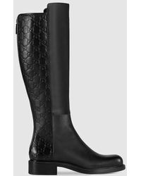 Gucci | Leather Knee Boot | Lyst