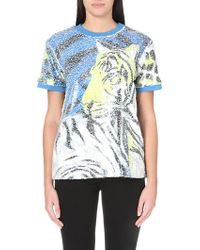 Just Cavalli Sequinned Short-sleeved Top - Lyst