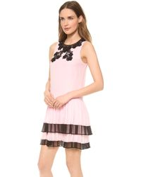 Jill Stuart Rina Pleated Dress - Lyst