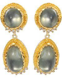 Victor Velyan - Green Moonstone Earrings - Lyst