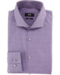 Boss by Hugo Boss Slim-Fit End-On-End Check Shirt - Lyst