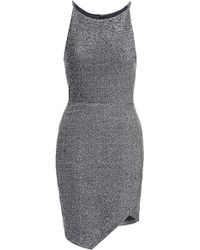Topshop Bonded Wrap Dress - Lyst