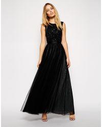 Needle & Thread Embellished Mesh Lace Maxi Dress - Lyst