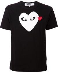 Comme Des Garçons Heart Logo T-shirt - Lyst