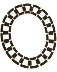 Rachel Zoe 12K Gold Eloise Leather Collar - Lyst