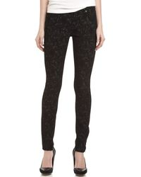 7 For All Mankind Gwenevere Jacquardprint Skinny Jeans - Lyst