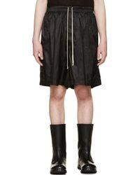 Rick Owens Grey Nylon Faun Shorts - Lyst