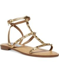 Steve Madden Womens Greenie Flat Sandals - Lyst