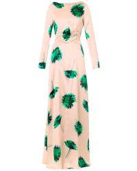 Nina Ricci Floral-Print Silk Gown - Lyst