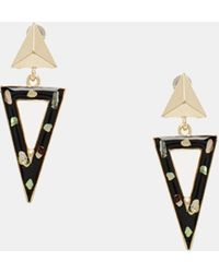 Asos Triangle Shell Earrings - Lyst