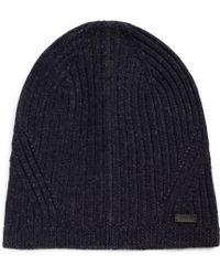 John Varvatos   Pleated Wool Rib-knit Skull Hat   Lyst