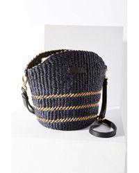 Aaks - Manni Mini Black Raffia Shoulder Bag - Lyst