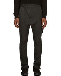 Alexandre Plokhov Black Denim Asymmetric Zip Harem Jeans - Lyst