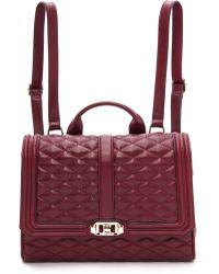 Rebecca Minkoff Love Backpack - Burgundy - Lyst