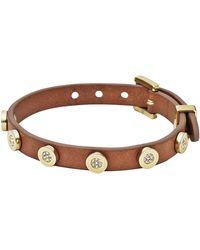 Michael Kors Pavestud Leather Wrap Bracelet - Lyst