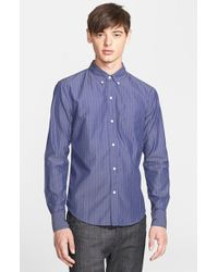 Band of Outsiders Extra Trim Fit Stripe Shirt - Lyst